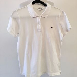 Vineyard Vines Womens White Polo Shirt Size Large